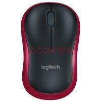 罗技(Logitech)M185(M186) 鼠标 无线鼠标 办公鼠标 对称鼠标 黑色红边