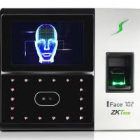 中控智慧(ZKTeco)iFace702 指纹加人脸识别考勤机 混合识别门禁打卡机