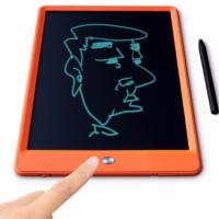 汉王(Hanvon)液晶手写板儿童写字板 手绘板涂鸦板绘画草稿电子本无尘画板光能电子小黑板 10英寸橙色