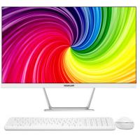 海兰 台式办公一体机电脑超薄家用整机全套i3i5微边游戏电脑主机 21.5英寸八代G4900+8G+240G