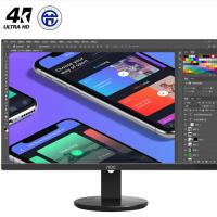 AOC U2790VQ 27英寸 4K高清 IPS广视角 微框 99% sRGB 商用办公节能 低蓝光不闪液晶显示器