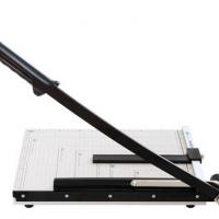 得力8014 切纸机手动钢质木质 裁纸刀A4照片刀切纸板切纸机刀
