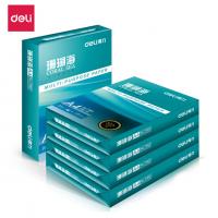 得力(deli)珊瑚海5包装70gA4复印纸 500张/包 整箱2500张