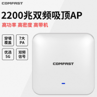 COMFAST E385AC 2200M双频无线WiFi吸顶AP大功率千兆酒店企业办公AC管理路由