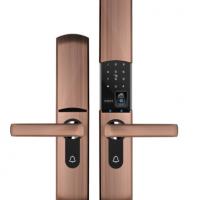智能指纹锁家用木门全自动滑盖电子锁防盗门密码锁刷卡智能门锁办公室I
