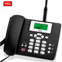 TCL 插卡电话机 移动固话 家用办公座机 联通3G4G卡 中文菜单 大音量 GF100畅联