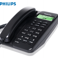 飞利浦(PHILIPS)电话机座机 固定电话 办公家用 免电池设计 来电显示 TD-2808